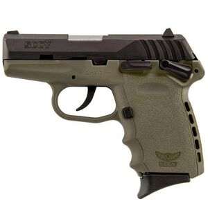 """SCCY CPX-1 Semi Auto Pistol 9mm Luger 3.1"""" Barrel 10 Rounds Manual Safety Polymer Frame Flat Dark Earth/Black CPX1CBDE"""