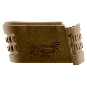 Springfield Armory XD-S .45 ACP Grip Sleeve Extension Size 1 Backstrap Polymer Flat Dark Earth