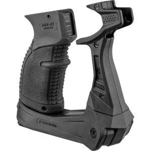 Mako Group Fab Defense AK Podium Bi-Pod Pistol Grip Shooting Platform Polymer Black