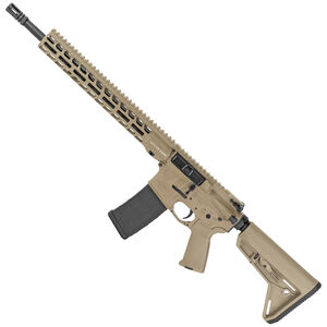 """Stag Arms Left Handed Stag 15 Tactical 5.56 NATO AR-15 Semi-Auto Rifle 16"""" Barrel 30 Rounds Optic Ready Magpul MOE SL Stock FDE Finish"""