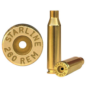 Starline .260 Remington Unprimed Rifle Brass Cases 50 Count 260REMEUP-50