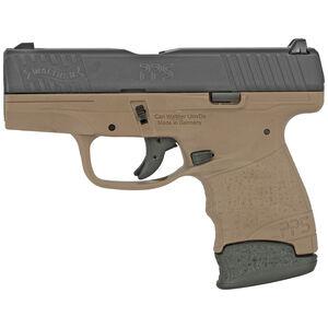 "Walther PPS M2 9mm Luger Semi Auto Pistol 3.18"" Barrel 6/7 Round Magazines 3 Dot Sights Polymer Frame Tenifer Slide Finish Black/FDE"