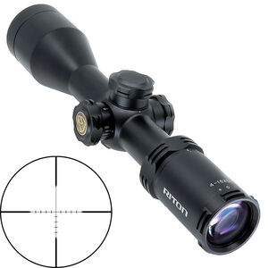 Riton RT-S Mod 5 Gen 2 4-16x50 Wide FOV Riflescope Non-Illuminated Hunting Reticle 30mm Tube .25 MOA 6061-T6 Aluminum Second Focal Plane Adjustable Parallax Matte Black