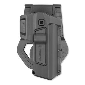 Recover Tactical Passive Retention Paddle Holster 1911 Right Hand Polymer Black HC11PRB