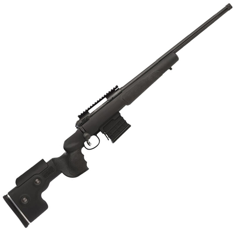 """Savage 10GRS Bolt Action Rifle 6.5 Creedmoor 24"""" Heavy Fluted Threaded Barrel 10 Rounds AccuTrigger GRS Adjustable Stock Matte Black"""