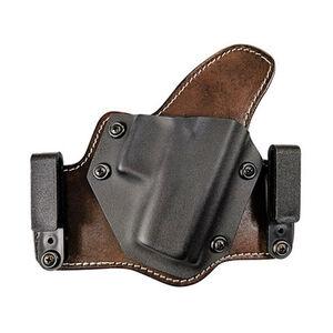 Tagua Texas Partner IWB/OWB Holster Fits S&W M&P Shield 9mm / .40 Hybrid Right Hand Black