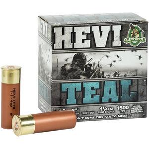 """Hevi-Shot Hevi-Teal Ammunition 12 Gauge 25 Rounds 3"""" #5 Steel Shot 1.25 oz 1500 fps"""