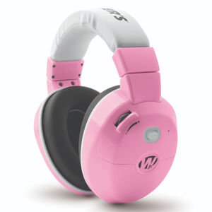 Walker's Game Ear Electronic Active Youth Earmuffs 22dB Noise Reduction Rating Two AAA Battery Powered Pink