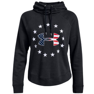 Under Armour Women's UA Freedom Logo Favorite Hoodie Size Large Cotton/Poly/Fleece Blend Black