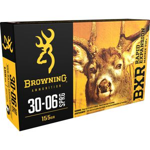 Browning BXR .30-06 Springfield Ammunition 20 Rounds BXR 155 Grains B192130061