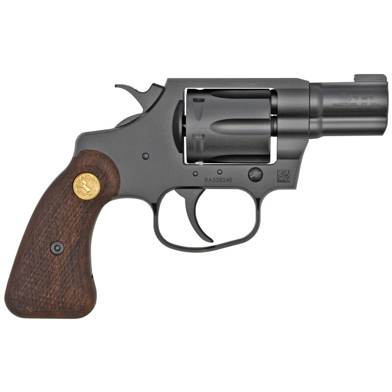 """Colt Cobra Special .38 Special +P Revolver 2"""" Barrel 6 Rounds Brass Bead Front Sight Retro Wood Grips PVD Black Finish"""