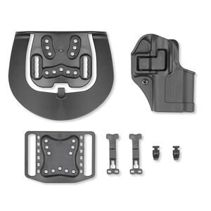 BLACKHAWK! SERPA CQC Concealment Belt/Paddle Holster For GLOCK 43 Right Hand Polymer Black 410568BK-R