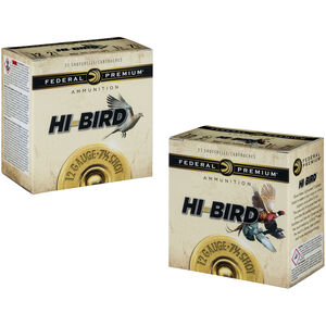 "Federal Hi-Bird 12 Gauge Ammunition 250 Rounds 2.75"" #6 Lead 1.125 Ounce HVF126"