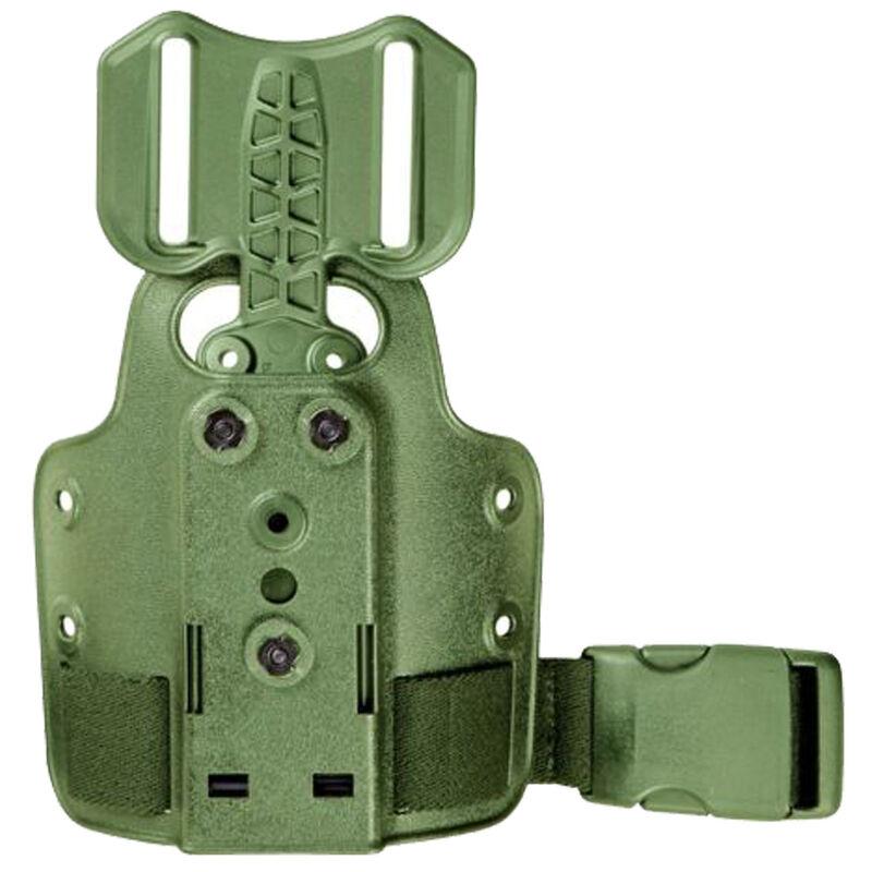 Safariland Single Strap Leg Shroud with Drop Flex Adapter Polymer OD Green