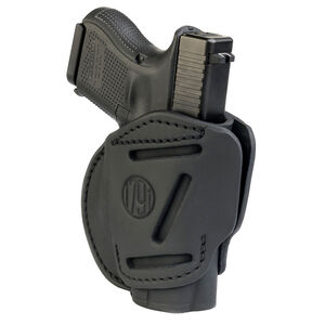 1791 Gunleather 3WH 3 Way Multi-Fit OWB Concealment Holster for 9mm Luger/.40 S&W Sub Compact Semi Auto Models Ambidextrous Draw Leather Stealth Black