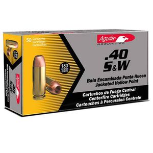 Aguila 40 S&W Caliber Ammunition 50 Rounds FMJFN 180 Grain