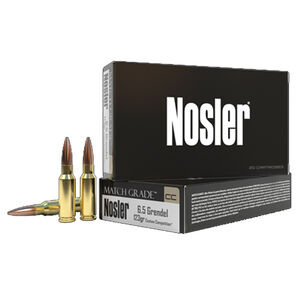 Nosler Match Grade 6.5 Grendel Ammunition 20 Rounds 123 Grain Custom Competition HPBT 2450 fps