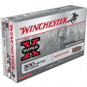 Winchester .300 Winchester Magnum Ammunition 200 Rounds Super X JSP 180 Grains