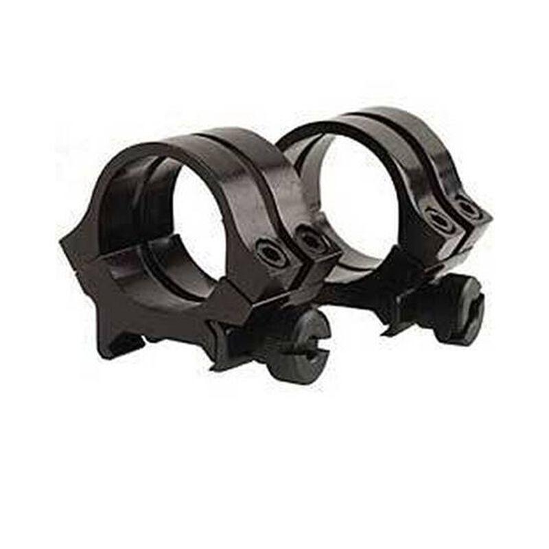 "Weaver Quad Lock Detachable 1"" Aluminum Rings Medium Height Gloss Black 49074"