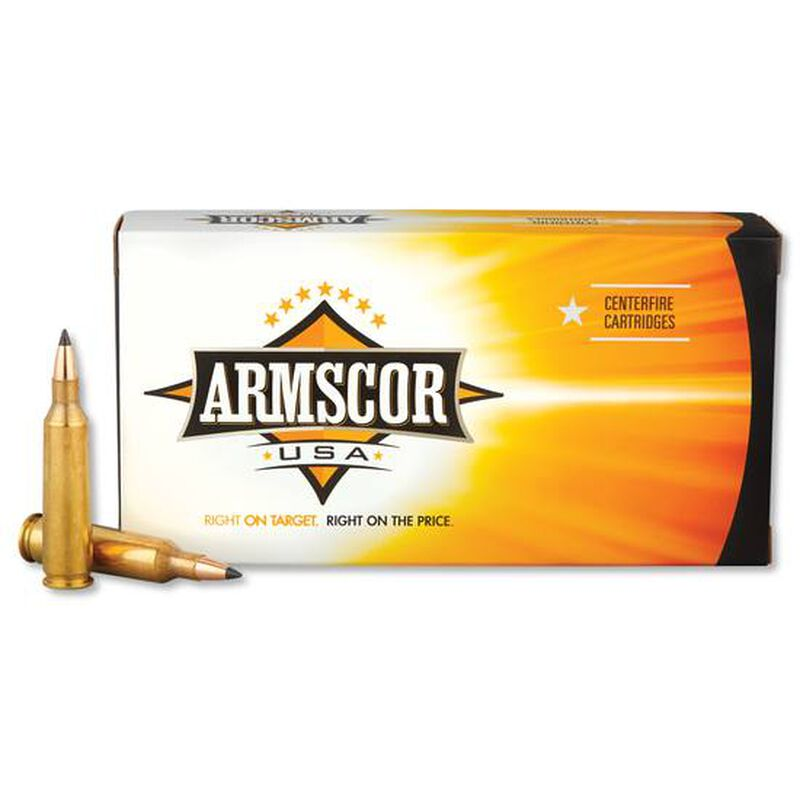Armscor USA .22-250 Rem Ammunition 20 Rounds PT 55 Grain