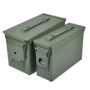 Reliant Ranger Rugged Gear 30 and 50 Cal Ammo Can Combo Metal Green