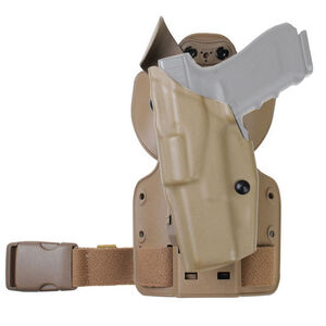 "Safariland Model 6354 Sig Sauer P228 with 3.9"" Barrel ALS Tactical Thigh Holster Left Hand STX Tactical FDE"