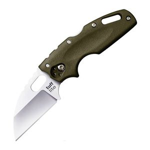"Cold Steel Tuff Lite Folding 2.5"" Plain Edge Sheepsfoot AUS-8 Blade with Gric-Ex Handle Olive Drab Green"