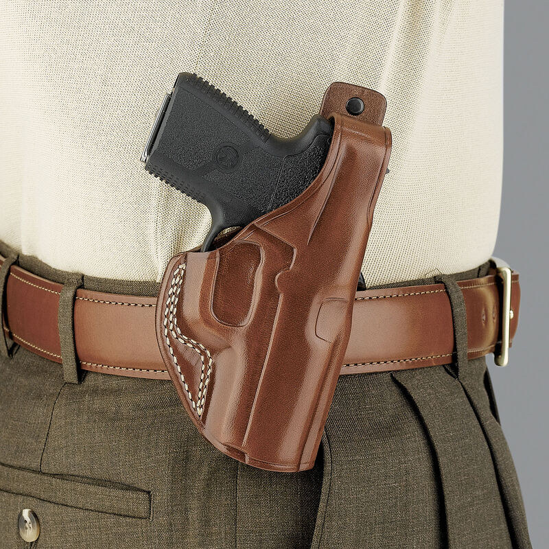 Galco PLE Paddle Holster Glock 17 22 & 31 Right Hand Leather Black PLE224B