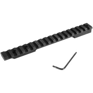 EGW HD Weatherby Mark V 9 Lug Long Action Picatinny Rail Scope Mount 0 MOA Aluminum Matte Black