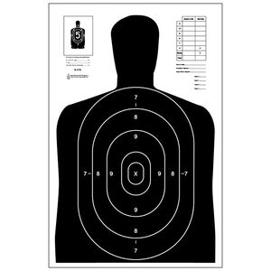 "Action Target B-27E Economy Target 23"" x 35"" Paper Black 100 Pack"