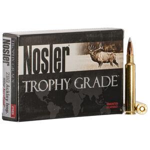 Nosler Trophy Grade .280 Ackley Improved Ammunition 20 Rounds 160 Grain AccuBond Bullet 2950 fps