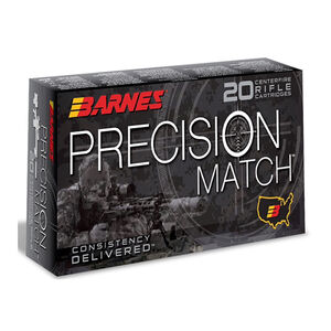 Barnes Precision Match 6.5 Grendel Ammunition 20 Rounds 120 Grain OTM