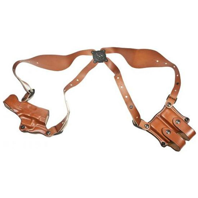 DeSantis New York Undercover GLOCK 19, 23, 32 Shoulder Holster with Ammo Carrier Right Hand Leather Tan 11DTAB2J0