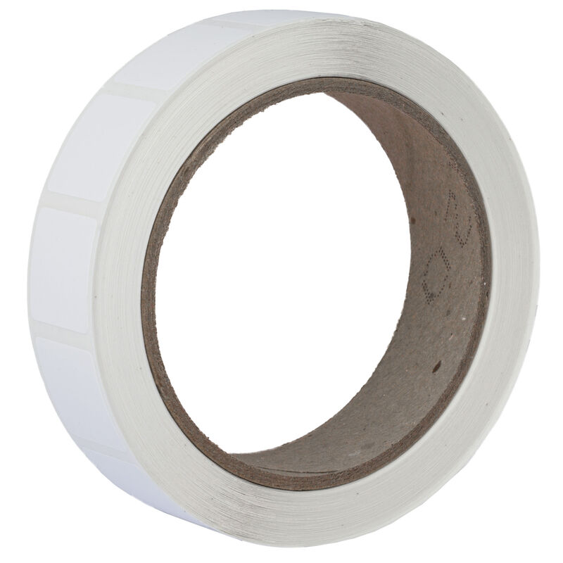 """Action Target Roll of 1000 7/8"""" Square Target Paster White"""