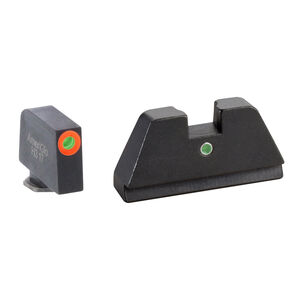 Ameriglo XL Tall Sight Set for GLOCK Green Tritium Front Dot with Orange Outline and Single Green Tritium Rear Dot