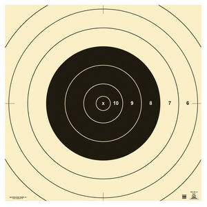 """Action Target SR-1C NRA 100 Yard High Power Rifle Slow and Rapid Fire Target Repair Center 10.50"""" x 10.50"""" Heavy Tagboard Black 100 Count"""