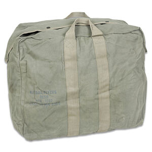 """Original U.S. Flyers Kit Bag Used Rugged Canvas Good Condition 22x11x18"""" Difficult to Find!"""