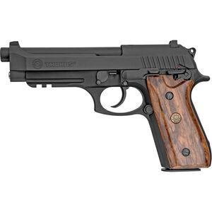 "Taurus Model 92 9mm Luger Semi Auto Pistol 5"" Barrel 17 Rounds Drift Adjustable Rear Sight Accessory Rail Walnut Grips Matte Black Finish"