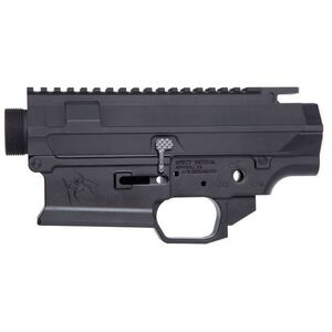 Spikes Tactical AR-308 Livewire Billet Upper/Lower Receiver Set High 3/16ths Picatinny Rail 7075-T6 Billet Aluminum Matte Black STSBX10