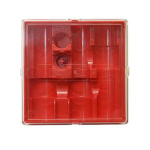 Lee Precision 3 Die Storage Box Red Clear Top