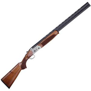 "American Tactical Imports Cavalry SX Over/Under Shotgun 12 Gauge 3"" Chamber 28"" Barrel Automatic Ejectors Walnut Stock Engraved Nickel Receiver Blued Finish Barrels Vent Rib Brass Bead Sight ATIGKOF12SVE"