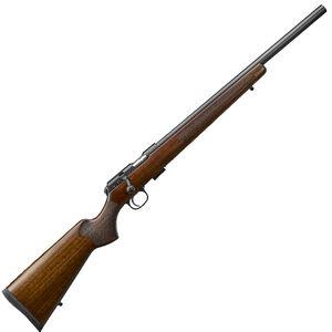 "CZ USA CZ 457 Varmint Rifle .17 HMR Bolt Action Rifle 20.5"" Barrel 5 Rounds DBM Turkish Walnut Varmint Style Stock Black Finish"