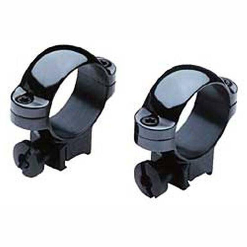 """Burris 1"""" Deluxe .22 Steel Rings High Black Gloss 420073C"""