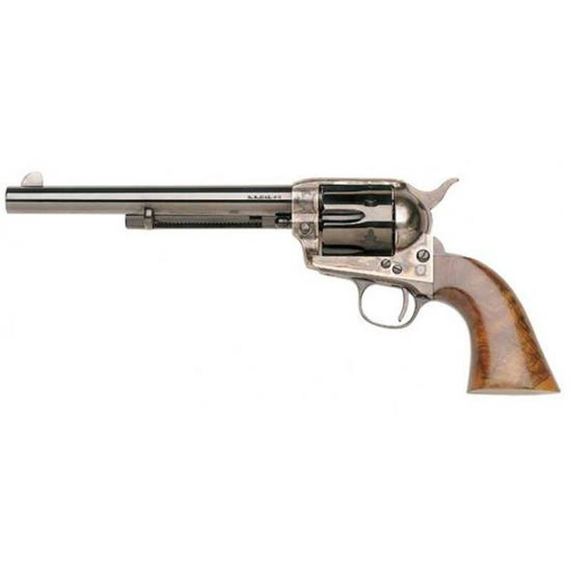 """Taylor's & Co Uberti 1873 Cattleman New Model Single Action Revolver .45 LC 7.5"""" Barrel 6 Rounds Case Hardened Frame Walnut Grip Blued 702A"""