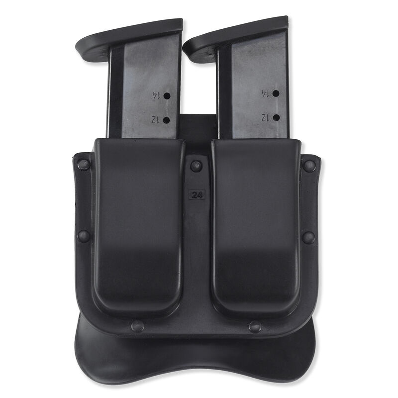"""MATRIX DOUBLE MAG CASE  • Counterpart to the Matrix Holster line • Holds 2 magazines on the belt • Attaches w/paddle that fits belts up to 1-3/4"""" • Black"""