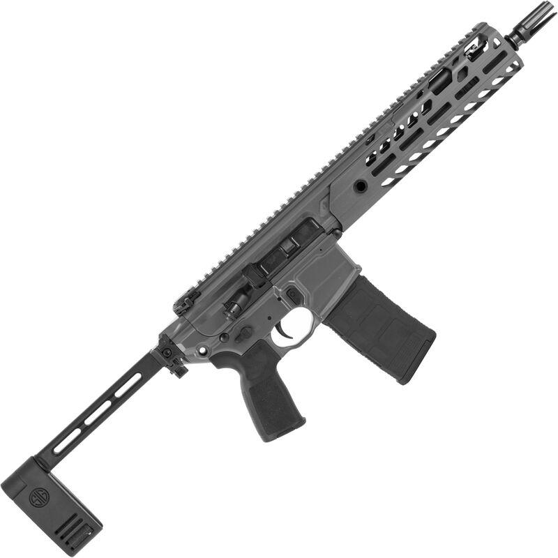 "SIG Sauer MCX Virtus .300 AAC Blackout Semi Auto Pistol 9"" Barrel 30 Rounds Matchlite Duo Trigger Free Float M-LOK Hand Guard Pistol Stabilizing Brace Stealth Gray Finish"