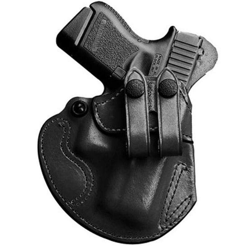 DeSantis Gunhide Cozy Partner GLOCK 26, 27, 33, S&W CS9, Walther PPS IWB Holster Right Hand Leather Black 028BAE1Z0