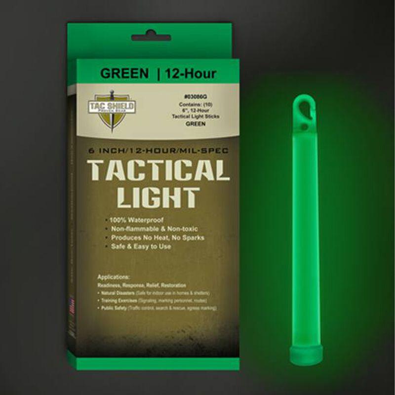 Tac Shield Tactical Light 12 Hour Green 10 Pack 03086G
