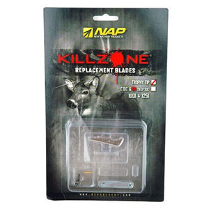 """New Archery Products Mechanical Broadhead Killzone Trophy Tip Replacement Blades 100 Grain 2"""" Cutting Diameter .035"""" Blades 6 Pack 60-598"""