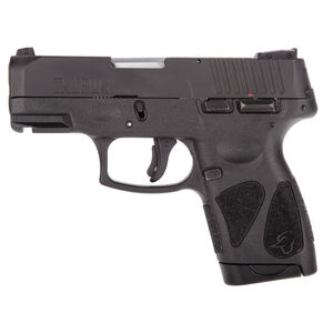 "Taurus G2S Slim .40S&W Semi Auto Pistol 3.2"" Barrel 6 Rounds 3 Dot Sights Matte Black Slide/Matte Black Frame"